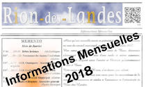 Bulletins d'informations mensuels 2018