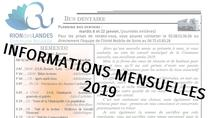 Bulletins d'informations mensuels 2019