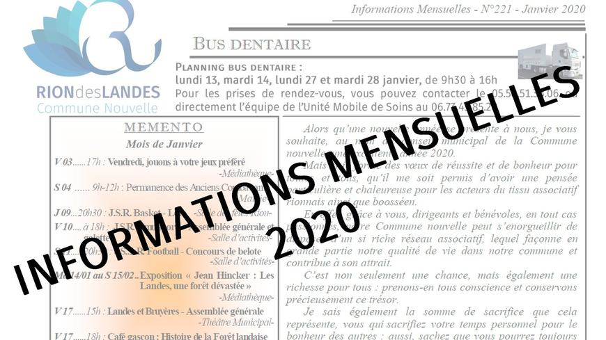 Bulletin d'informations d'octobre 2020